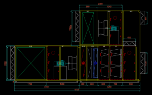 Air handling unit 2d drawing